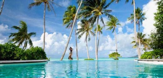 Luxus geniessen im Paradies: Malediven.  Quelle: GETTY IMAGES
