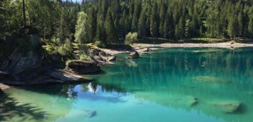Platz eins: Caumasee, Flims GR. Kommentar von Urs: «Ein Foto sagt mehr als tausend Worte.»