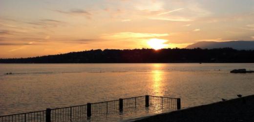 «Sonnenuntergang im Creux-de-Genthod am Genfersee», schreibt Andreas Grimm aus Genf.