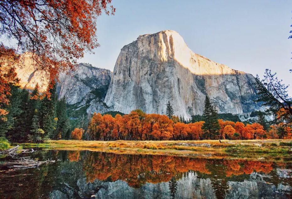 Der Yosemite-Nationalpark in den USA ist im Herbst besonders schön. Hier kann man den «Indian Summer» geniessen.