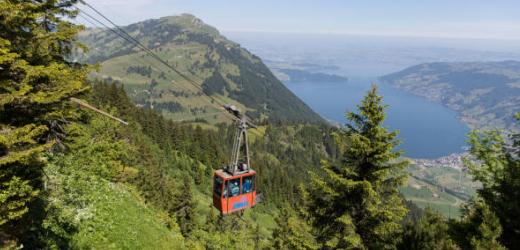 Wer nicht wandern möchte, erreicht den Gipfel der Rigi bequem mit der Luftseil- oder Zahnradbahn – Seesicht inklusive. Bergbahnen schlagen von der Energieeffizienz her alle anderen Verkehrsmittel.