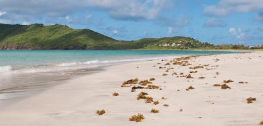 Verlassener Strand bei Vieux Fort, Saint Lucia.