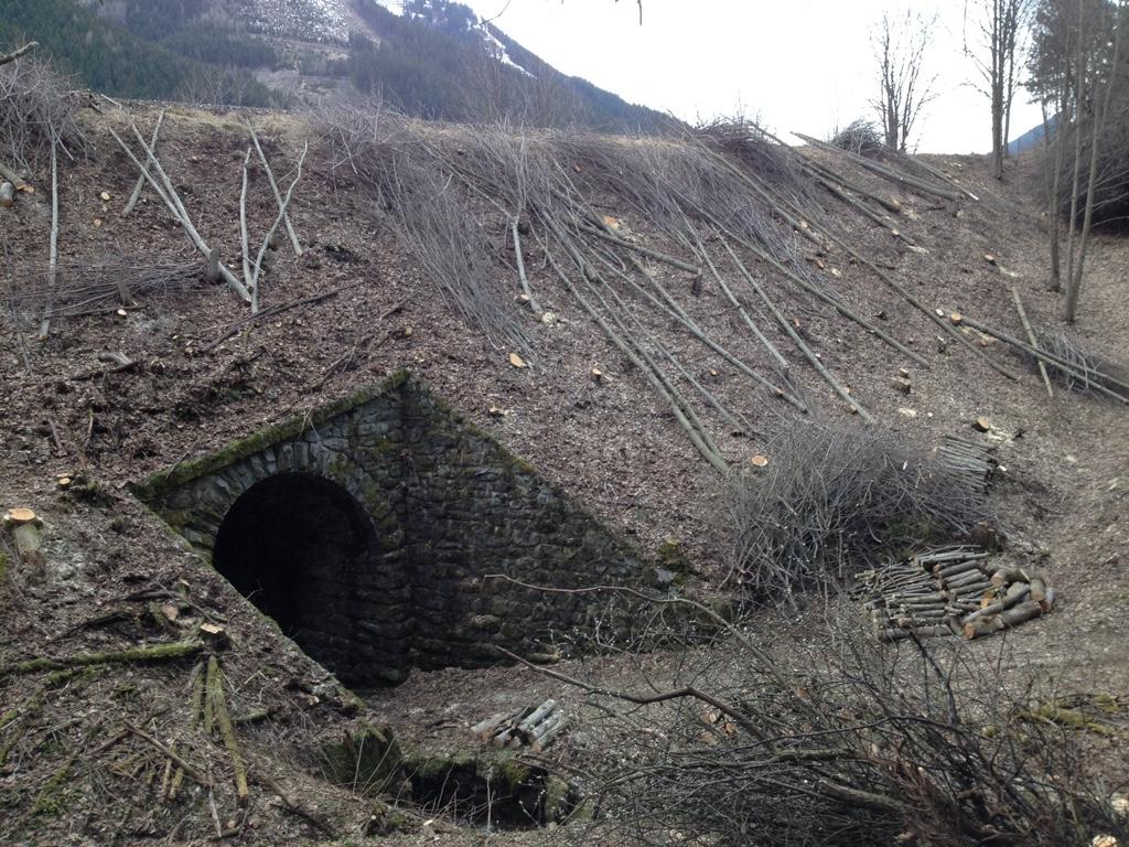 Durchlass Waldweg bergseitig