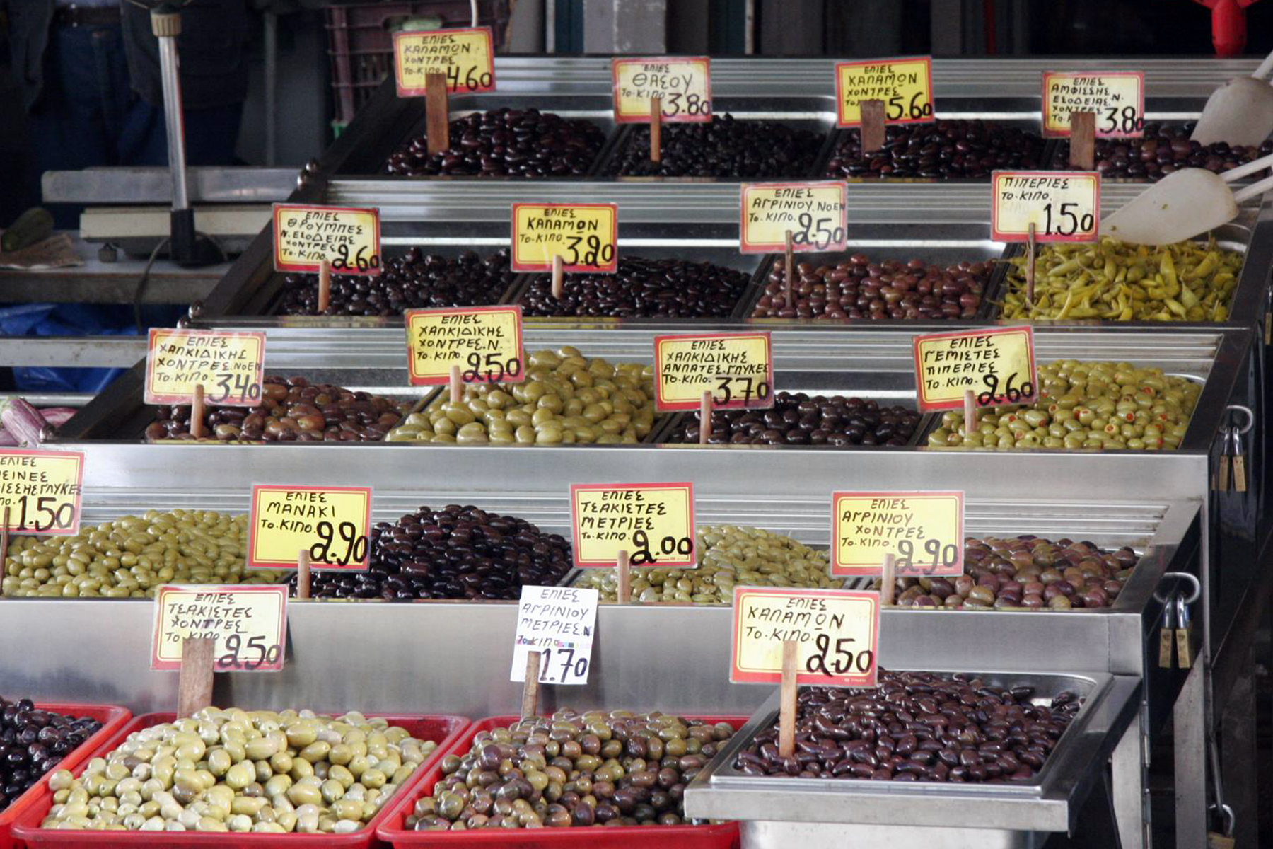 Oliven, Oliven und noch mehr Oliven