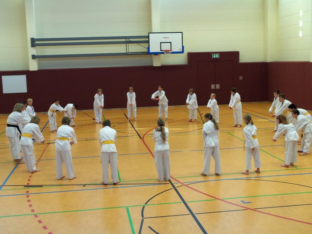 das letzte Training vor der Abendveranstaltung