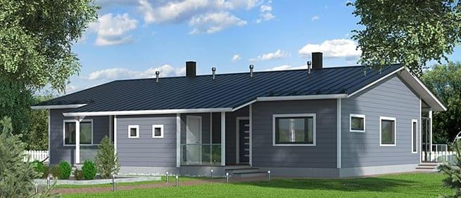 Blockhaus - Wohnblockhaus - Zweifamilienhaus - © Blockhaus Kuusamo