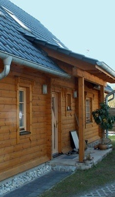 Blockhaus Wernsdorf mit Satteldach in Dahme-Spreewald, Land Brandenburg -  © Blockhaus-Profi