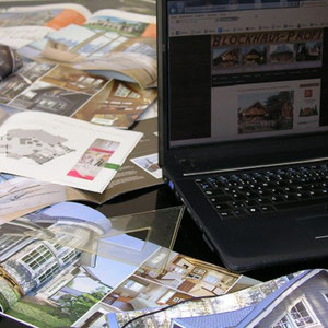 Blockhaus Bauen  in Thüringen - Blockhausbau - Holzbau - Blockhäuser - Entwurfsplanung - Architektenhäuser - Hausbau  - Saale - Saalfeld -  Kölledach