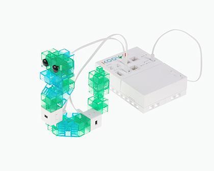 ロボットプログラミング授業例の「ヘビ」の画像