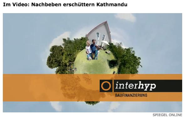 Guter Rat an alle Nepali: Haus kaputt? Kein Problem. Bau Dir ein neues. Mit der interhyp.