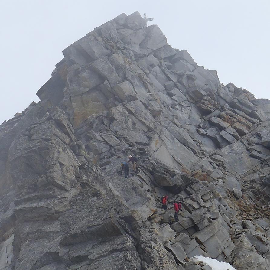 Hochalmspitze - Detmolder Grat zum Gipfel -  Bergtour, Steinerne Mandln, Gießener Hütte