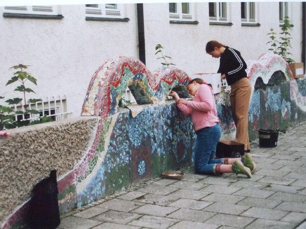 die Mosaike gelegt