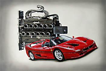 Ferrari F50 – Acryl mit Airbrush
