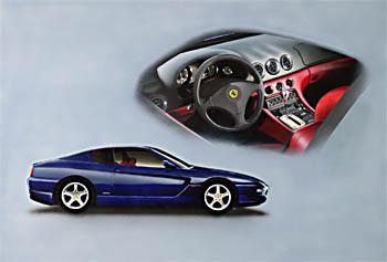 Ferrari 456M – Acryl mit Airbrush