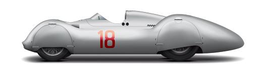 10 Typ D Stromlinien-Rennwagen 1938