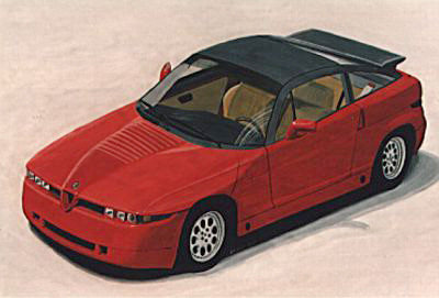 Alfa Romeo Zagato Coupé – Acryl