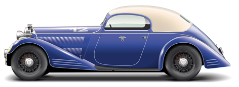 12 Horch 830 Spezialcoupe 1933
