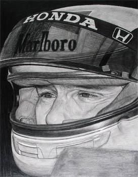 Ayrton Senna – Bleistift