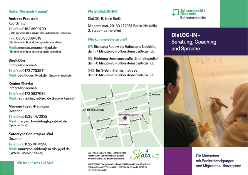 "Flyer ""DiaLOG-IN"" Rückseiten - 2019"