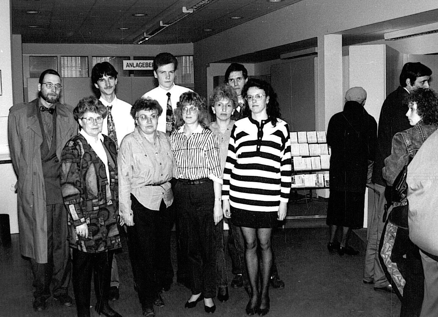 Kollegium in der Geschäftsstelle Markt 20 - 1992