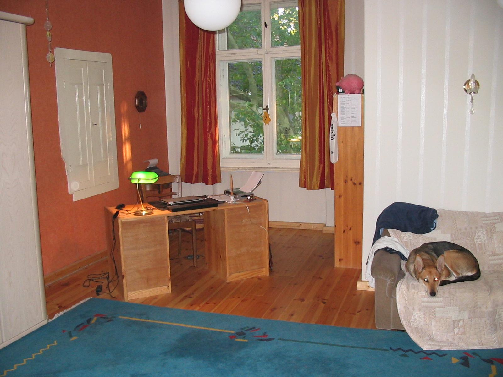 """Arbeitszimmer mit Hündin """"Mila"""" - 2008"""