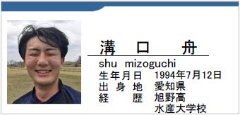 溝口舟、mizoguchi shu、愛知県名古屋市、ラグビー歴:旭野高、水産大学校