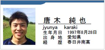 唐木純也/karaki jyunya/愛知県名古屋市/ラグビー歴:春日井南高