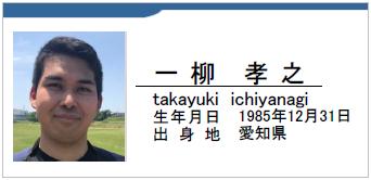 一柳孝之/takayuki ichiyanagi/愛知県名古屋市/ラグビー歴:未経験