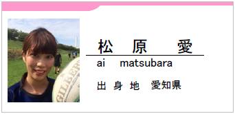 松原愛、愛知県名古屋市
