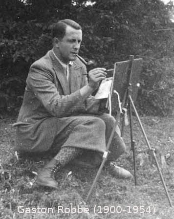 Gaston Robbe (1900-1954) Artiste peintre (Photo site jeanmicheldesmicht.com)
