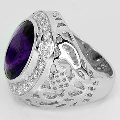 серебряные кольца с аметистом