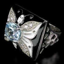 топаз,серебро с топазом,эмаль и топаз в серебре,кольцо из серебра с топазом и эмалью