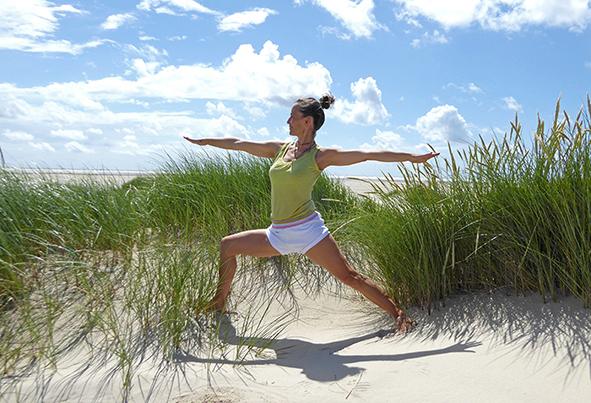 Iyengar-Yoga Retreat auf der Nordseeinsel Amrum mit Christine Bader.