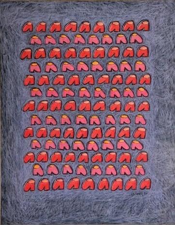 VORÜBERGEHENDE ORDNUNG, 2007, 50 x 40 cm, Kreide und Farbstift auf Papier