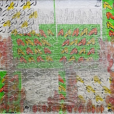 """Remember Birkenau"", 2010, 50 x 50 cm, Mischtechnik"