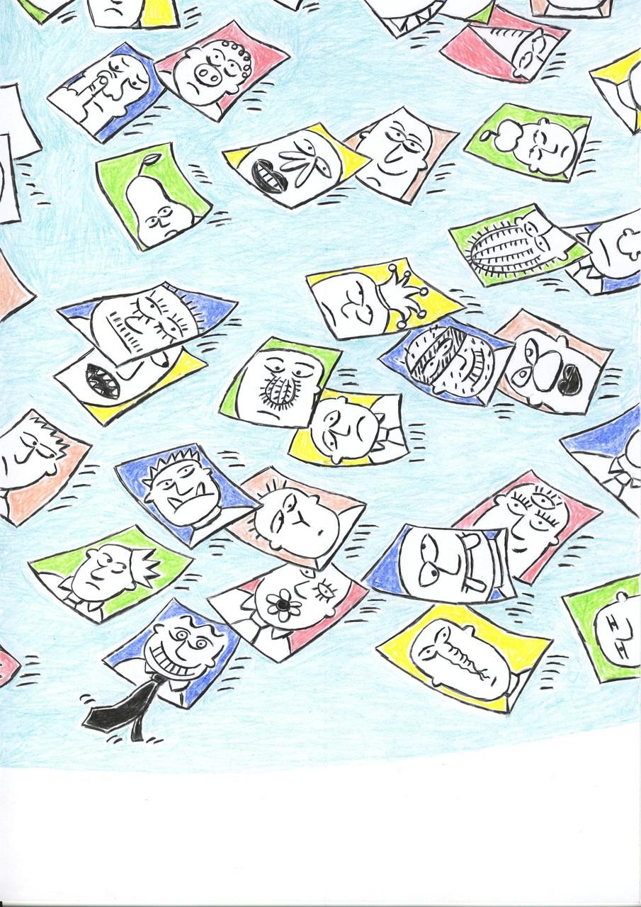 """Ausschnitt aus """"Mein Meisterwerk"""", Farbstift auf Papier, 2011"""