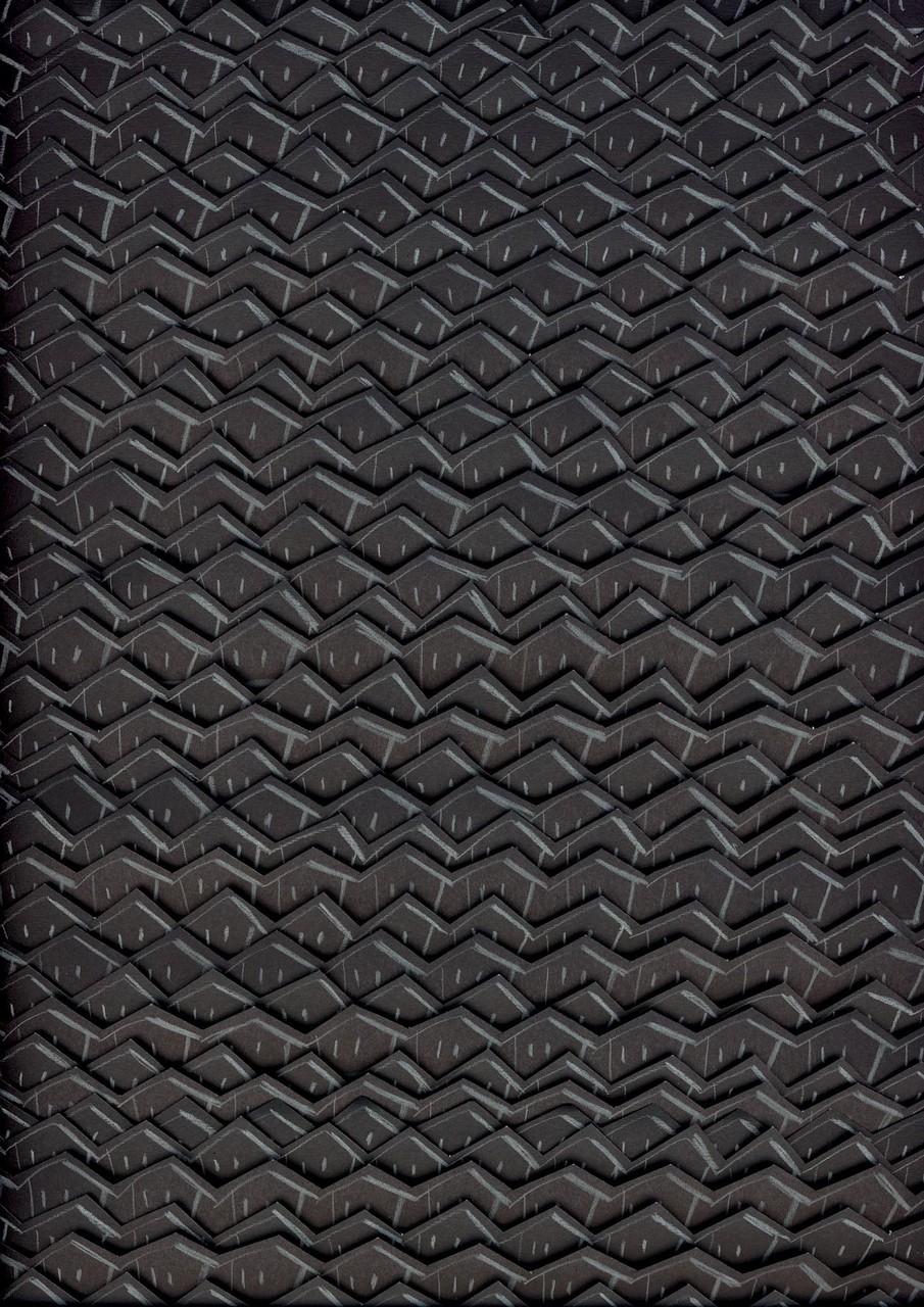 IDENTITIES schwarz, Farbstift auf Papierstreifen auf Papier, leicht dreidimensional, Serie in verschiedenen Formaten seit 2004