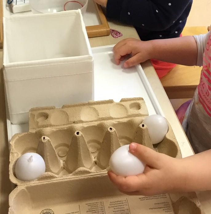 Aktionstabletts - Eier einsortieren