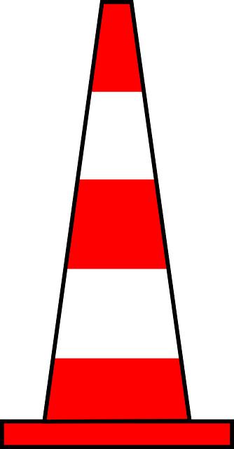 Cône de signalisation indiquant que la page est en cours de construction ou en maintenance