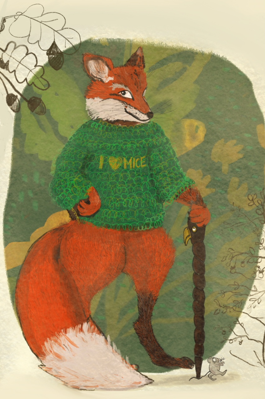 Fuchs du hast die Maus erwischt