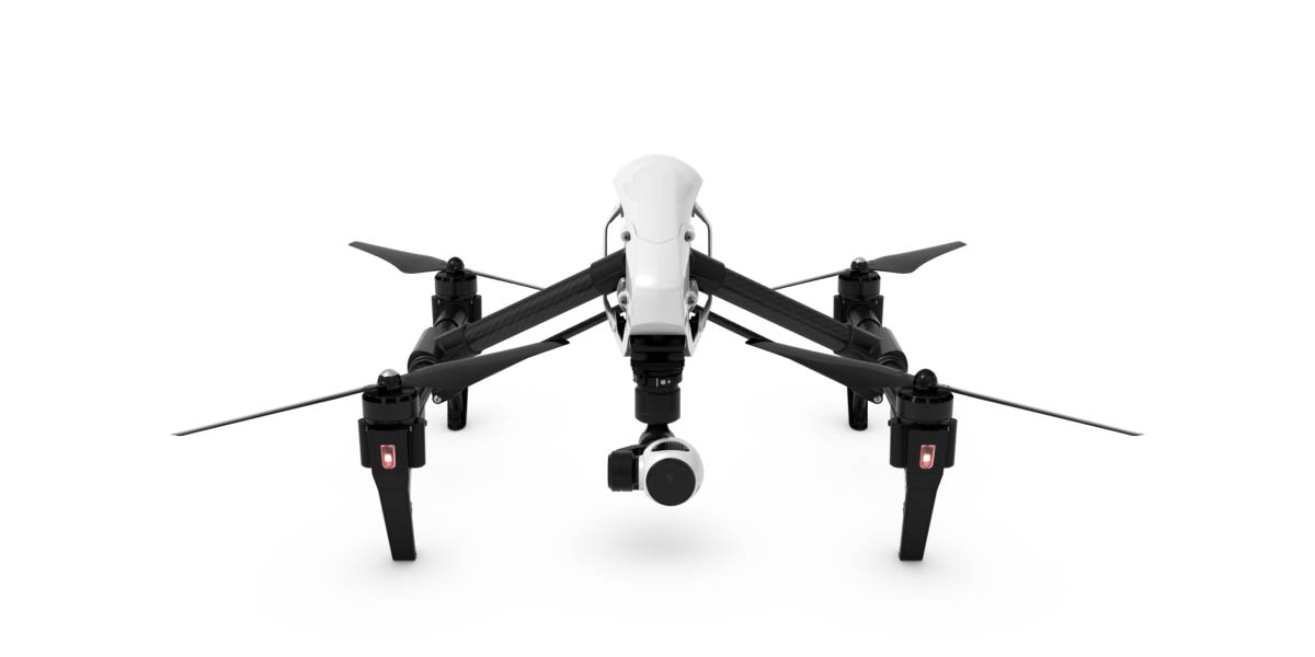 Here is the DJI Inspire 1 on the ground