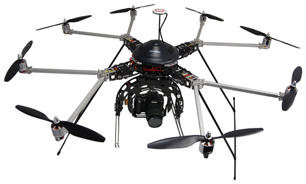 Oktocopter Turbo Ace Cinewing 8E