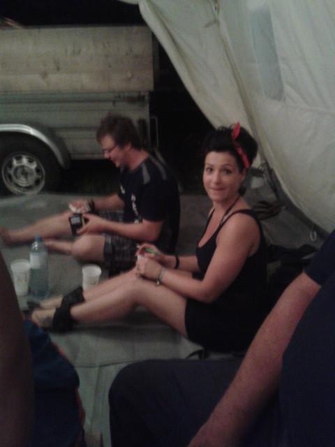 Sehr netter Besuch im Zelt!!