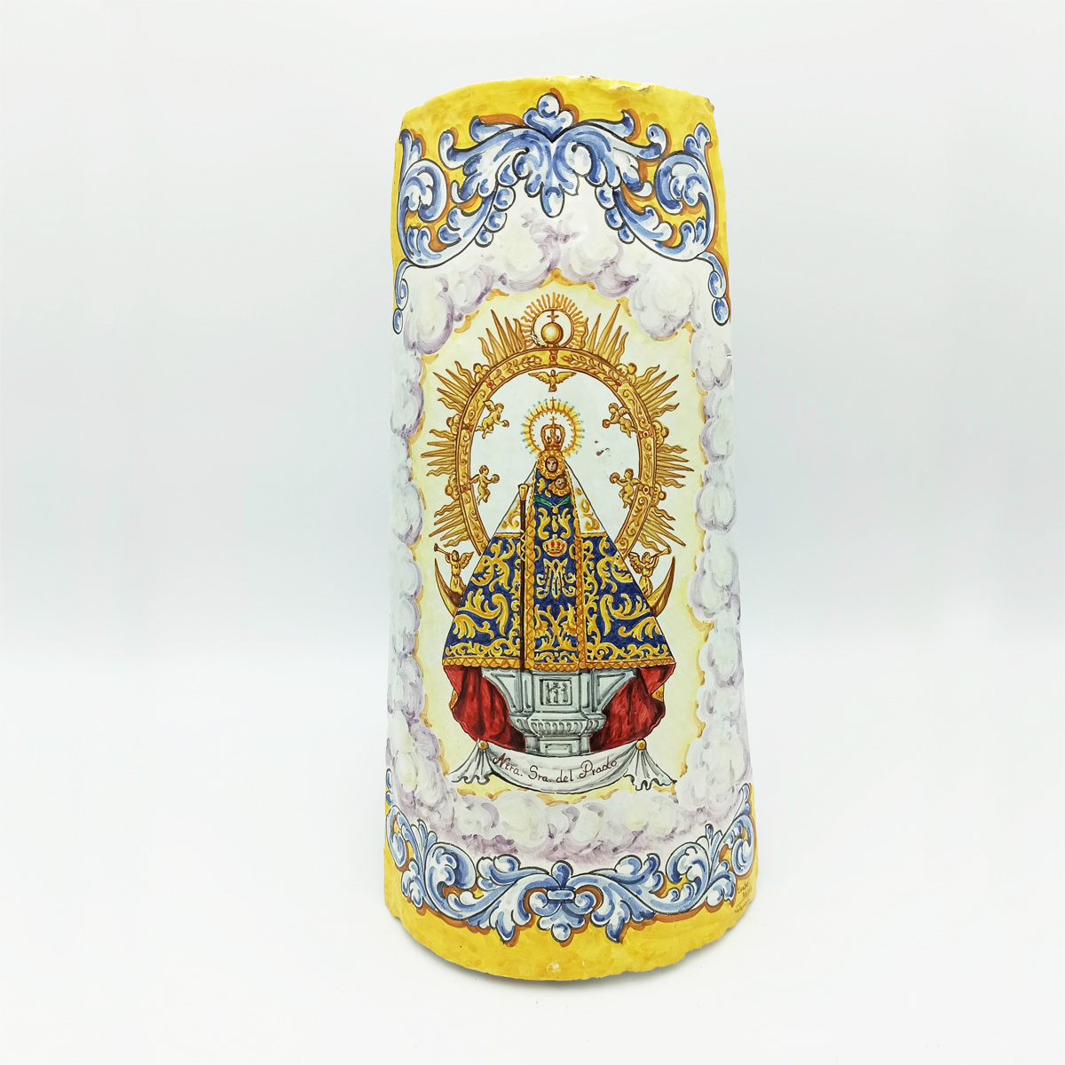 Teja Decorativa Cerámica Virgen del Prado