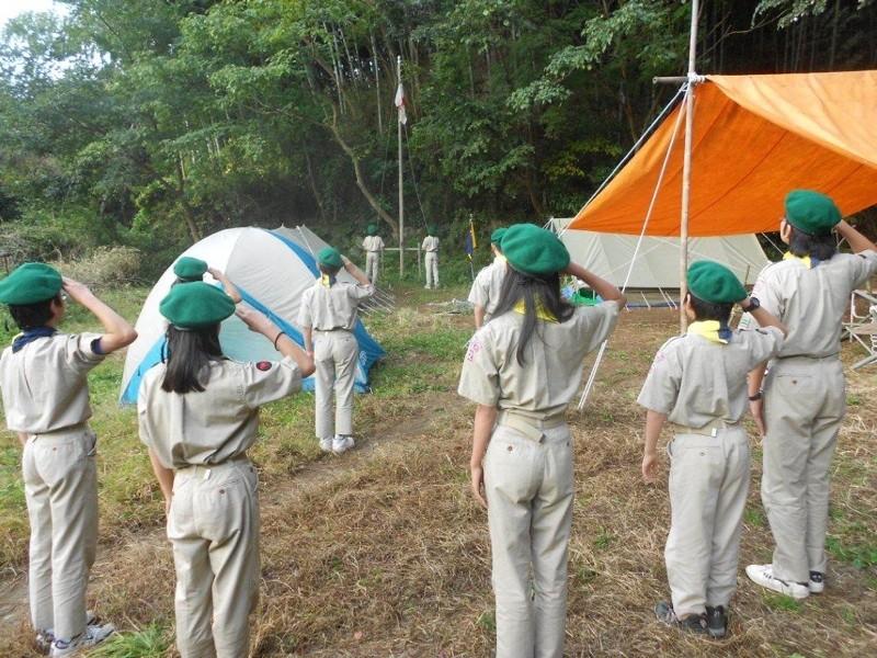 キャンプの日の朝礼