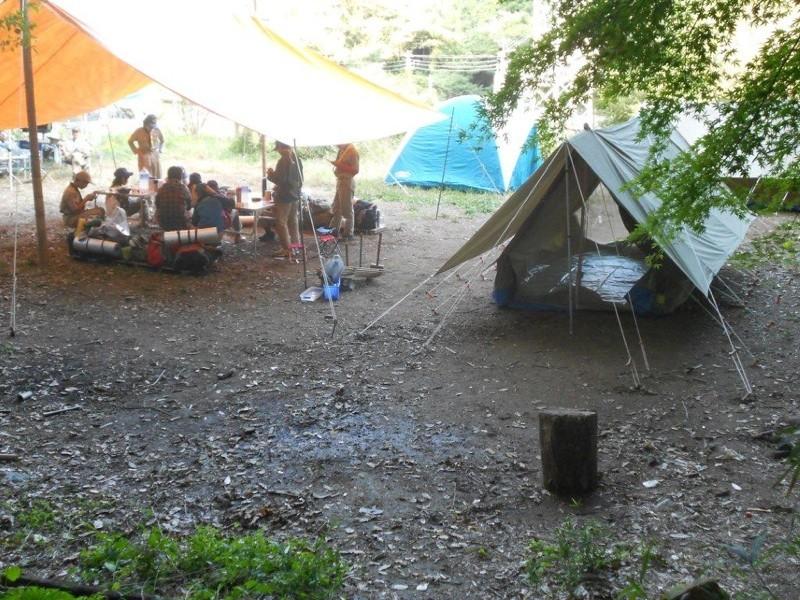 キャンプの食事の時間