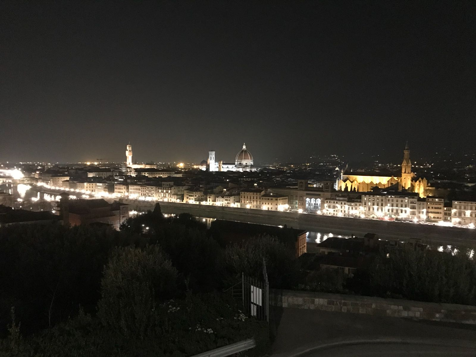 Florence by night, as seen from the Piazzale Michelangelo