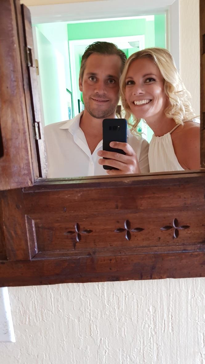 Selfie vor der Hochzeit