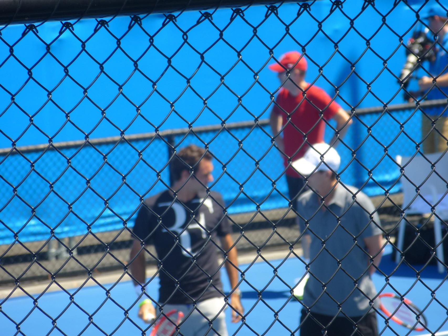 Roger Federer am Trainieren