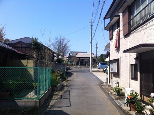 奥まったところにあるのが海隣寺です。参道の両脇には民家が並んでいます。